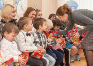 The visit of the First Lady of Ukraine Maryna Poroshenko and the Ombudsman for Children Nikolay Kuleba to the pre-school