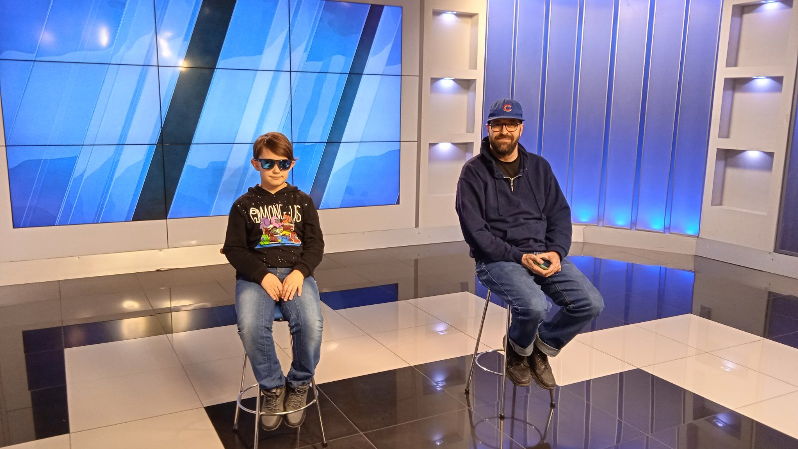 The 'Child with Future' Foundation consultant Bill Peters and the 9-year-old autistic artist Maksim Brovchenko talked about ASD on the TV5 channel air